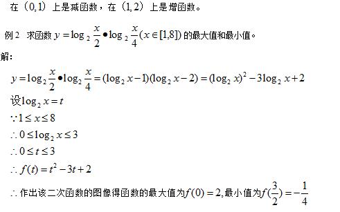 高一数学必修一对数函数知识点